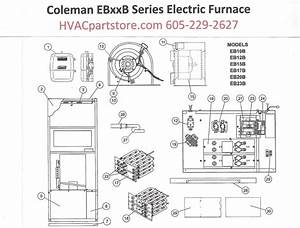 Eb15b Coleman Electric Furnace Parts  U2013 Hvacpartstore