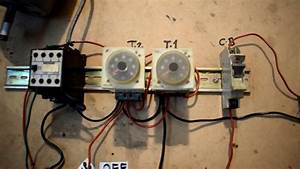Auto And Manual Motor Control Circuit With Timer