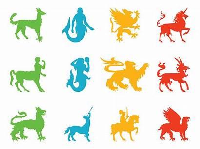 Creatures Mythological Heraldic Fantasy Vector Centaur Clipart