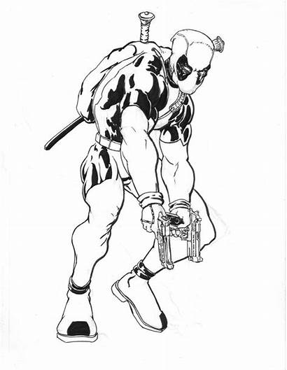 Deadpool Coloring Pages Printable Hero Marvel Super