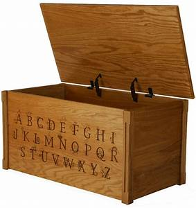 oak alphabet toy box with thematic letters oak toy With toy box letters