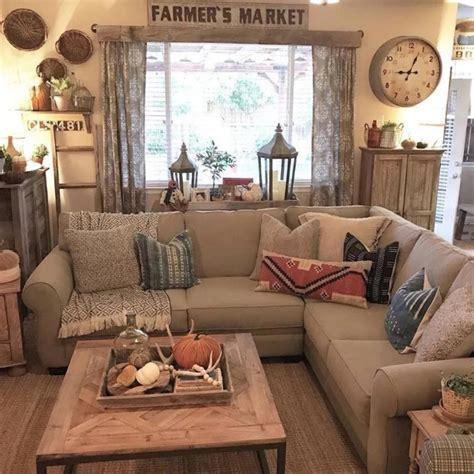 simple rustic farmhouse living room decor ideas