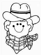 Cowboy Coloring sketch template