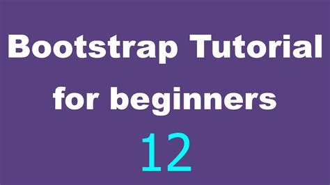 bootstrap tutorial for beginners 12 typography youtube