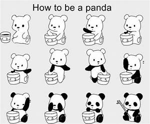 Cute Random Things To Draw | how to be a panda | Tumblr ...