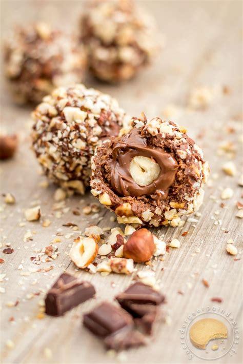 rocher au chocolat au lait pralin 233 cœur coulant de