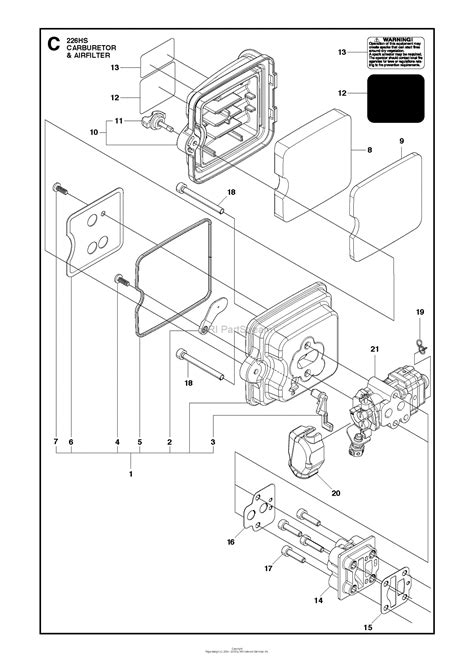Filter Diagram by Husqvarna 226 Hs75 S 2013 02 Parts Diagram For