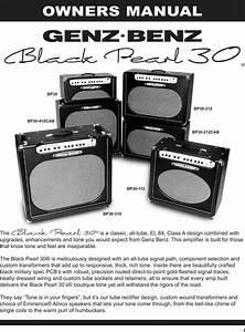 Genz Benz Black Pearl 30 Bp30 Users Manual