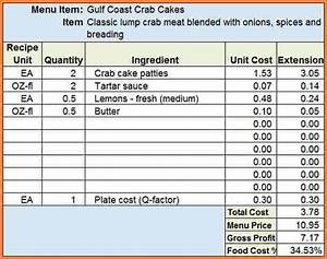 11 restaurant food cost spreadsheet excel spreadsheets With food costing sheet template