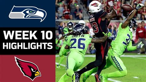 Seahawks Vs Cardinals  Nfl Week 10 Game Highlights Youtube