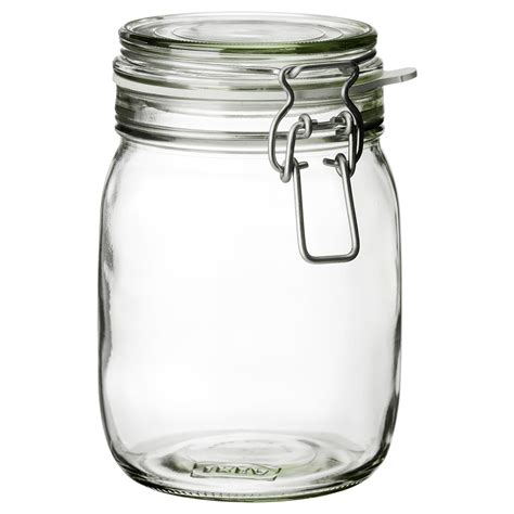 large glass jars with lids korken jar with lid clear glass 1 l ikea 8888