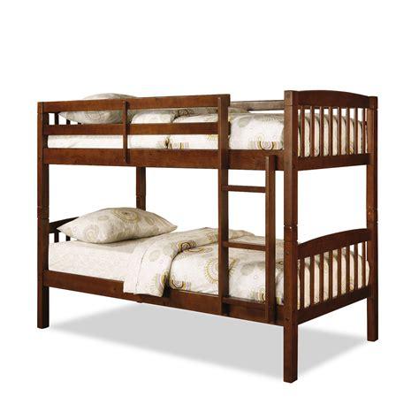 dorel belmont twin bunk bed walnut