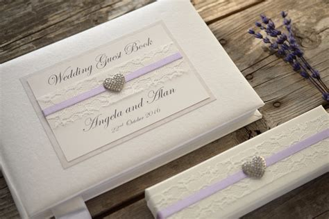 Personalised Wedding Guest Book And Pen Set