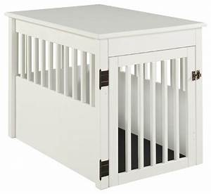 ecoflex furniture ruffluv large pet crate end table With white dog crate table