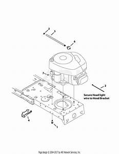 Mtd 13w2775s031  Lt4200   2014  Parts Diagram For Engine