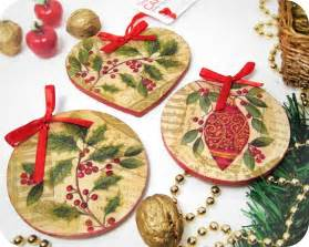 decoupage christmas ornaments christmas craft ideas pinterest