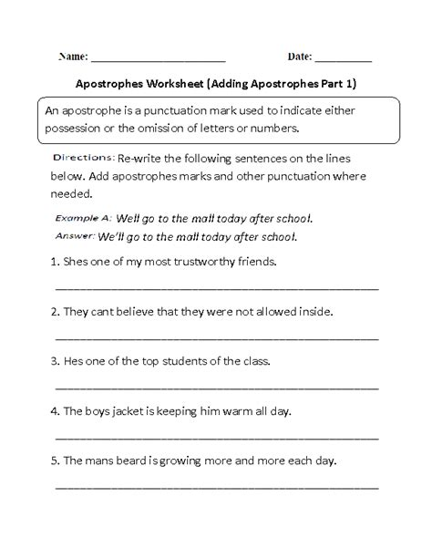 englishlinx apostrophes worksheets
