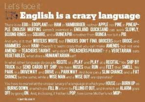 Humor - English is a crazy language Inspirational Quotes