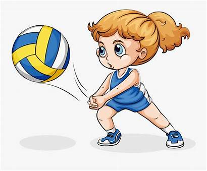 Playing Volleyball Children Clipart Transparent Play Clipartkey