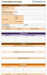 free statement of work templates smartsheet With statement of works template