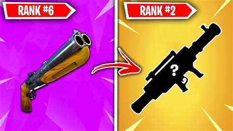 top  vaulted fortnite weapons ranked worst