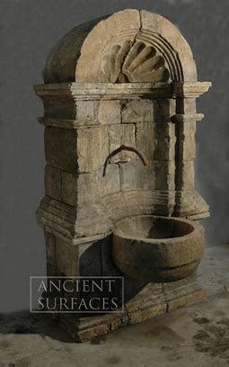 page    antique reclaimed limestone water wall