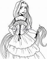 Coloring Disney Princess Pages Printable sketch template