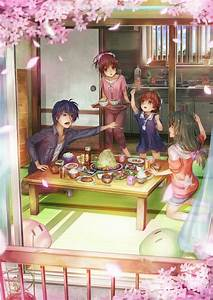 Tomoya, Nagisa, Ushio and Fuko (Clannad After Story ...