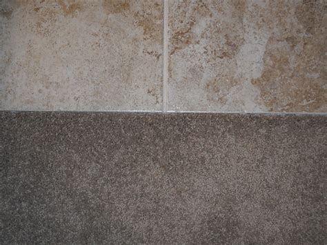 tile to carpet transition room area rugs tile to