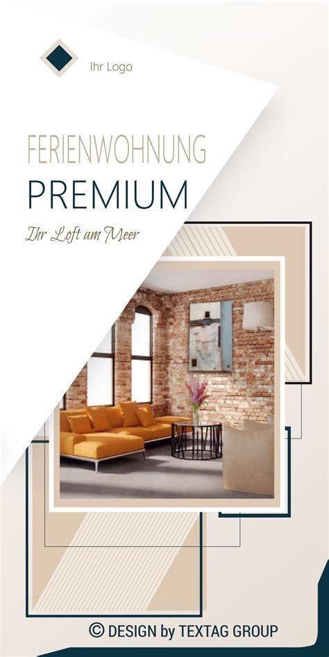 flyer fuer ferienwohnungen broschueren grafik design
