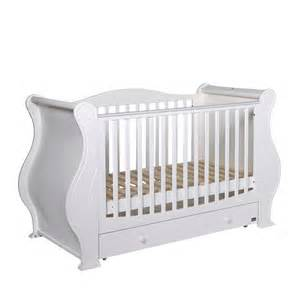 White Sleigh Cot Bed