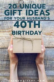 Husband 40th Birthday Gift Ideas