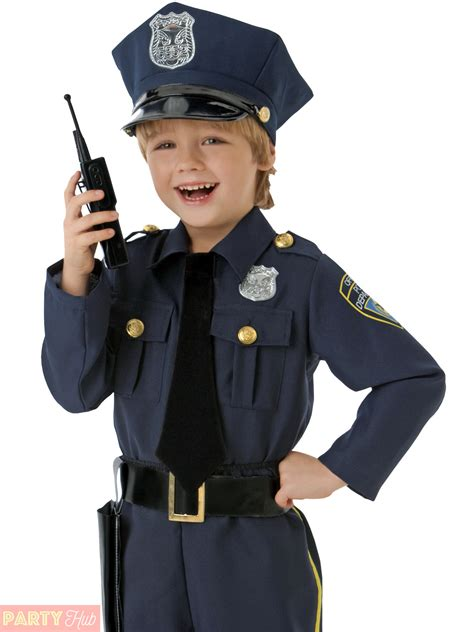 Boys Police Officer Costume Childrens Cop Fancy Dress Kids Uniform Book Week Day | eBay