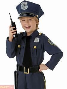 Boys Police Officer Costume Childrens Cop Fancy Dress Kids Uniform Book Week Day   eBay