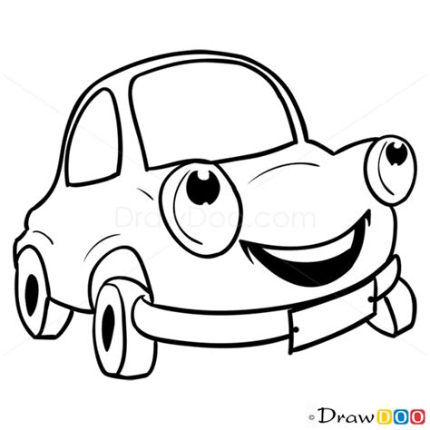 cartoon car drawing how to draw happy car cartoon cars