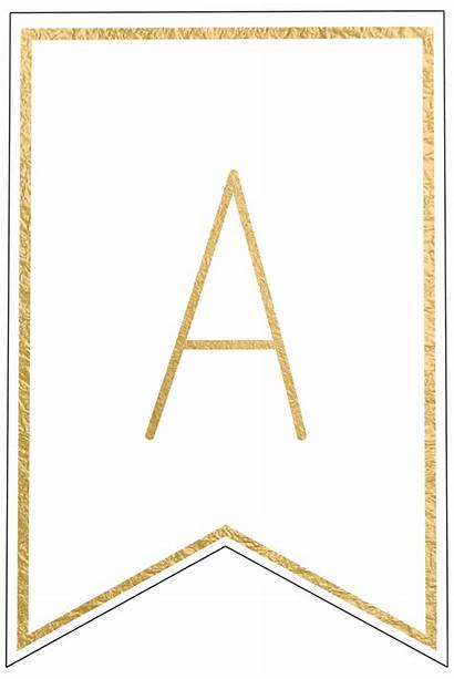 Banner Printable Letters Template Letter Birthday Banners