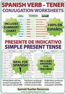 Tener Spanish Verb Conjugation Worksheets Present
