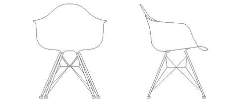 bloques autocad gratis de silla plastic armchair dar en alzado