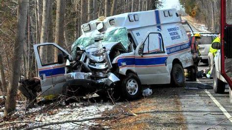 hurt  richmond ambulance van runs  road hits