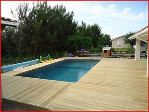 Piscine Avec Terrasse Bois : terrasse bois piscine avec margelle id es de terrasse ~ Nature-et-papiers.com Idées de Décoration