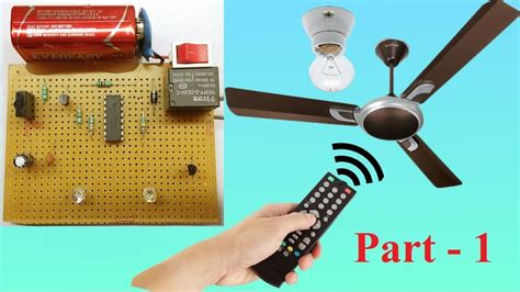 Control Fan And Light Using Tv Remote ( Part1 )  Youtube