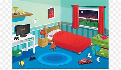 Bedroom Clipart Clip Cliparts Bed Cartoon Neat