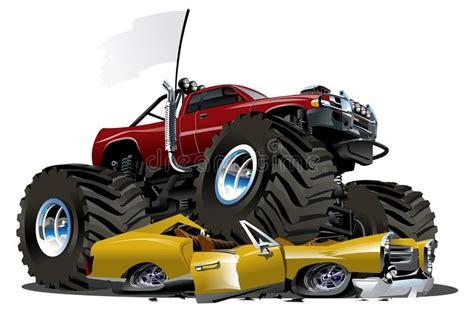 monster trucks races cartoon vector cartoon monster truck stock vector image 29440015