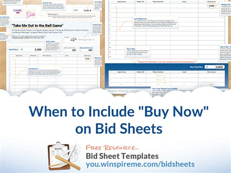 Buy Bid When To Include Quot Buy Now Quot Prices On Bid Sheets