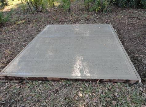 concrete slab for shed base building a base for a diy garage kit