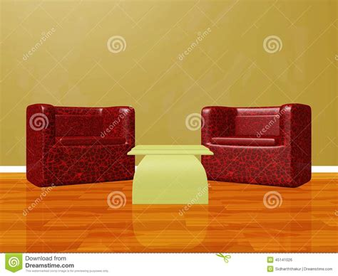 sofá chat show two lounge chairs set up for interview chat show stock