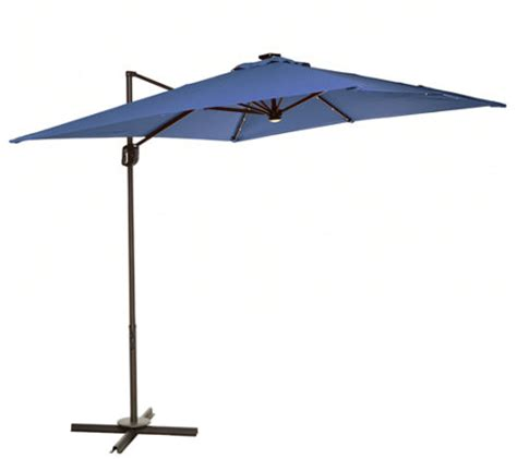 Square Solar Lighted Patio Umbrella by Atleisure 8 5 Square Olefin Solar Offset Patio Umbrella