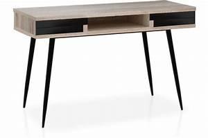 Bureau Design Scandinave : bureau scandinave bois clair et noir plani design pas cher sur sofactory ~ Teatrodelosmanantiales.com Idées de Décoration