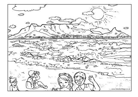 table mountain colouring page