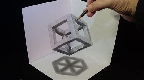 drawing cube  pencil corner art youtube
